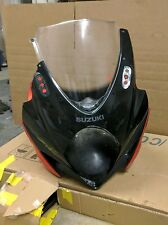 2007 2008 Suzuki GSXR 1000 Upper Front Fairing Cowl Black/Orange Bodywork OEM