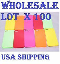 WHOLESALE LOT OF X 100 Ultra Thin Glossy Hard Case Cover For iPhone 5 5s RESALE