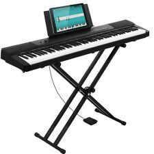 Tastiera Musicale 88 Tasti Pesati Professionale Pianola con Pedale e Supporto