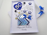 Personalised Handmade Card Birthday Husband Brother Son Gift Box