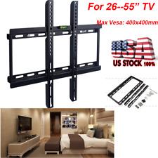 TV Wall Mount Bracket 26 30 32 37 42 46 47 50 52 55 LED LCD Flat Screen Rack USA