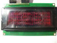 ZYSCOM LCD Display HD44780 4x20 chr 20x4 RED FSTN NEGATIVE Backlight