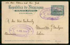 Mayfairstamps Nicaragua 1909 Bluefields to Saxony Stationery Card wwm51235