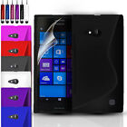 Silicone Gel Case Cover For Nokia Lumia 735 / LTE RM-1039 FREE Screen Protector