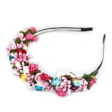 Flower Rose Hair Crown Greek Headdress Berries Hair Headband Garland