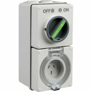 Clipsal Easy56 Flat 3 Pin 15A Switched Socket | EY56C315