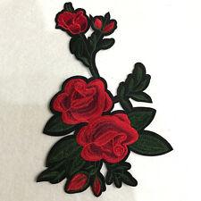 Flor Color Rosa Embroided Termoadhesivo Parche Aplique Ropa Adhesivo Costura