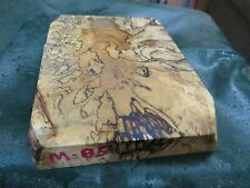 MM-SPALTED  MAPLE  DELUXE  KNIFE BLOCK/SCALES/ CALLS/ PEN BLANKS--M--85