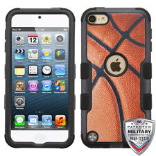 iPod Touch 5th/ 6th Gen Hybrid Tuff Case Cover Basket Ball + Screen Protector