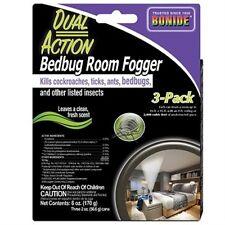 Bonide Dual Action Bedbug Room Fogger 3 pk kills Bedbugs Lice Ticks & Other Bugs
