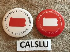 LOT OF (2) DONALD TRUMP ☆OFFICIAL☆ PENNSYLVANIA ☆CAMPAIGN RALLY☆ PIN BUTTONS