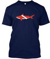Bull Shark Scuba Diving Flag Diver Down Hanes Tagless Tee T-Shirt