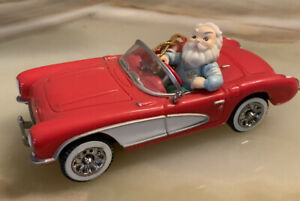 L.E. Enesco red 1956 Chevrolet Corvette Christmas ornament.  1:43