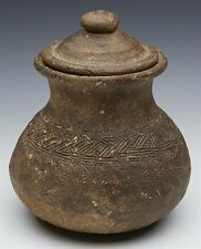 ARCHAIC SOUTH EAST ASIAN KHMER EARTHENWARE JAR 9/10TH C.