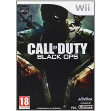 Nintendo Wii PAL version Call of Duty Black Ops