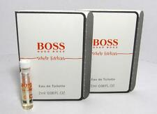 New In Card Hugo Boss In Motion White Edition EDT Vial Men 2ml 0.06oz Lot Of 2