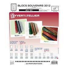 Jeux SC France blocs souvenirs 2012 avec pochettes de protection.