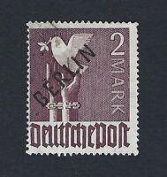 BERLIN 1948 BLACK OVERPRINT 2M VIOLET Nº 18 USED