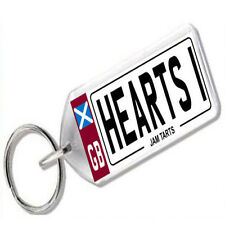 "NUMBER PLATE KEYRING FOR FOOTBALL FANS "" HEARTS 1 """