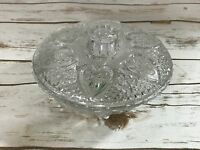 VINTAGE CLEAR CUT CRYSTAL COVERED LID  7 1CANDY DISH Nut BOWL