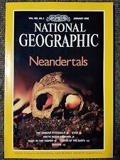 National Geographic Magazine January 1996 Neandertals, Edmund Fitzgerald, Utah