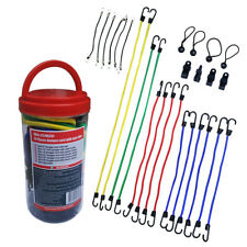 """28 pcs Bungee Cord In Jar Include 40"""" ,32"""",24"""",18"""",10"""",6"""" Bungee Cords With Hook"""