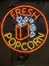 "New Fresh Popcorn Neon Light Sign 24""x24"" Lamp Poster Real Glass Beer Bar"