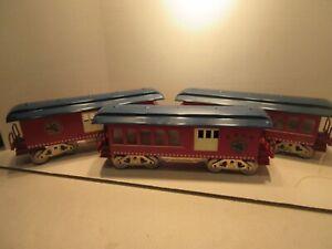 3 McCoy MFG Kent Washington Toy Train Operating Society 10th 11th 12th Cars Tin