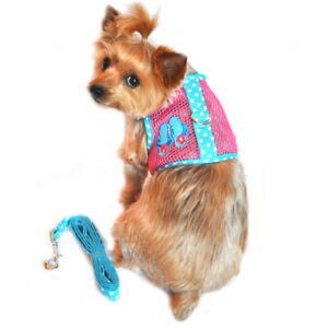 Cool Mesh Dog Harness Under the Sea Collection - Pink & Blue Flip Flop    XS-L