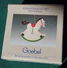 Goebel Annual Porcelain Christmas Ornament 1987 Rocking Horse 5435844 10Th Editi