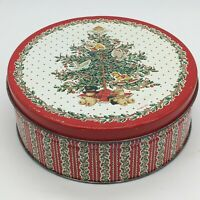 Vintage Currier and Ives American Homestead Winter ❄️ Round Collectors Tin