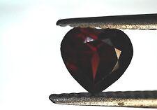 EGL USA CERTIFIED NATURAL GENUINE GARNET DARK PURPLE HEART CUT SHAPE 0.81 CT
