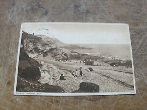 1920s Postcard -- Bracelet Bay Bathing scene, Mumbles Glamorgan - South Wales