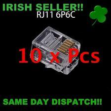 10Pcs RJ11 6P6C Telephone Internet Modular Plug Jack RJ11 Connector