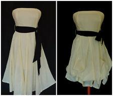 JANE NORMAN COTTON  DRESS SUMMER STRAIGHT or HITCHED SASH BELT STRAPLESS sz 10