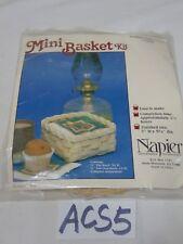 VINTAGE JADVICK REED CREATIONS MINI BASKET KIT BY NANCY GRUBER COCKTAIL NAPKIN