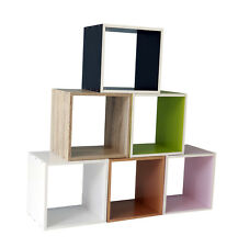 Tier Wooden Bookcase Shelving Display Shelves Storage Unit Wood Shelf Cube Simpl
