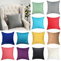 Nordic Style Plain Pillowcase Waist Pillow Cover Home Sofa Car Decor