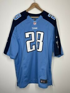 NFL TENNESSEE TITANS Nike OnField Football JERSEY Chris Johnson #28 SIZE XL MENS