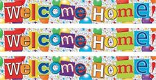 WELCOME HOME MULTI COLOUR FOIL BANNERS (SE)