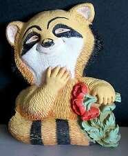 Raccoon Animal Art Wall Plaque 1977 Burwood # 7497 Home Int Homco Free Sh