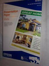 "Epson Photo Quality Ink Jet Paper 13"" x 19"" Matte Large S041069 100 Sheets 27 Lb"