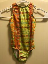 Gk Elite Sportswear Gymnastics Leotard Tie Dye Foil Size Child Small