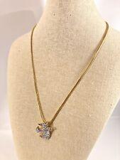 Swarovski Dove Crystal Pave' Necklace signed