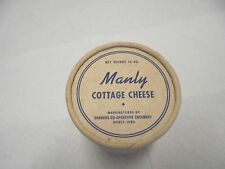 cardboard container manly cottage cheese 16 oz. farmers coop creamery manly iowa