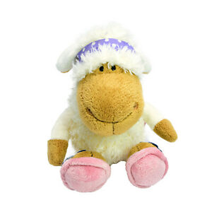 Nici Sheep Plush Soft Stuffed Toy White Lamb Scarf Shoes Washed and Clean 25cm