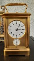 antik carriage clock hour striking repeat BOURDIN reiseuhr