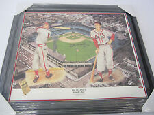 Stan Musial St Louis Cardinals signed 16x20 lithograph framed matted Musial Holo