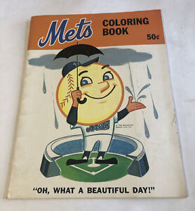 1965 New York Mets Coloring Book New Uncolored