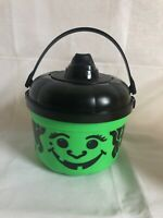 VINTAGE 1986 McDonald's Green Halloween Pumpkin Happy Meal Bucket - BRAND NEW!!
